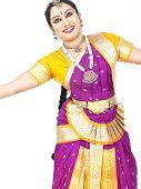 stock photo of bharatanatyam  - female Bharathanatyam dancer from south india asia - JPG