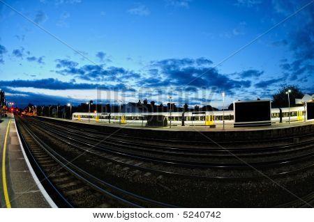 Tonbridge Railway Station, England, Uk, At Dusk