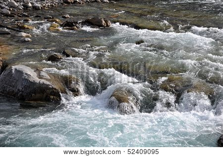 Rapid Water on the River