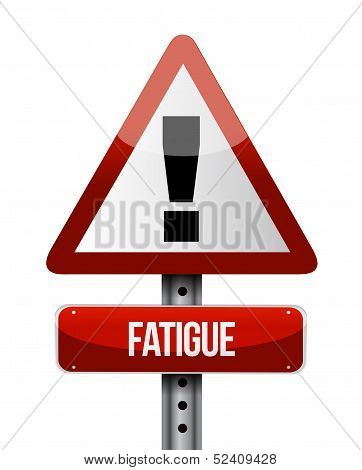 Fatigue Road Sign Illustrations Design