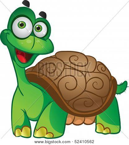 Smiling fun vector tortoise