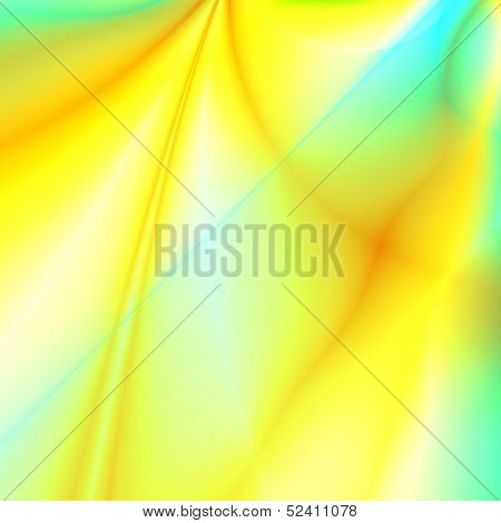 abstract smoothed lines and gradients of yellow color