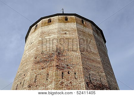 Tower Of Ancient Russian Monastery