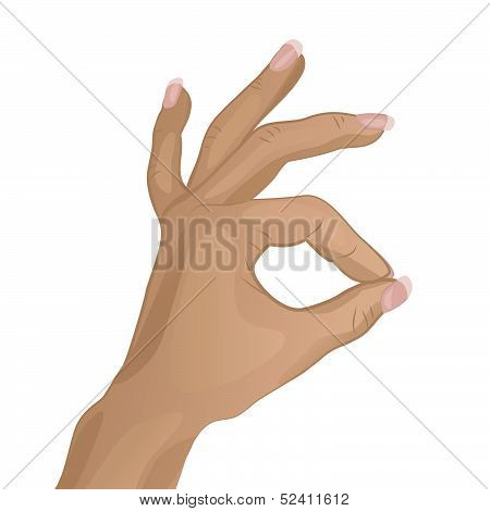 An illustration of hand doing OK.