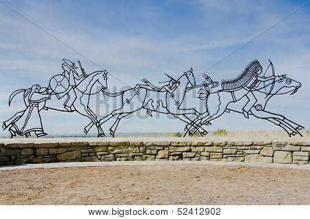 Little Bighorn Memorial Sculpture
