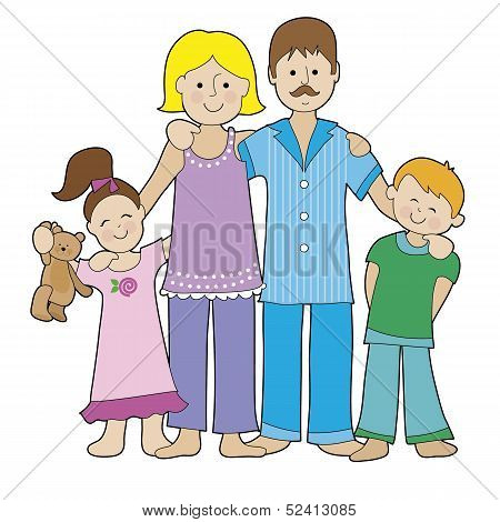 Family In Pajamas
