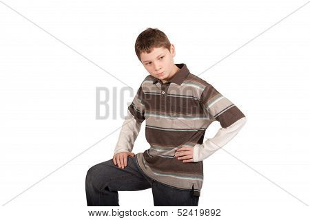 Angry Defensive Boy