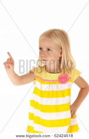 Young Female Child With Hand On Hip Pointing Her Finger In A Scolding Manner