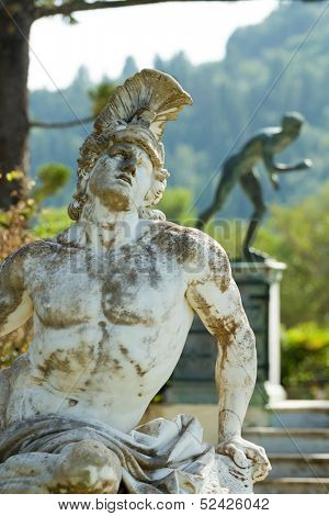 Statue of Achilles Corfu Greece