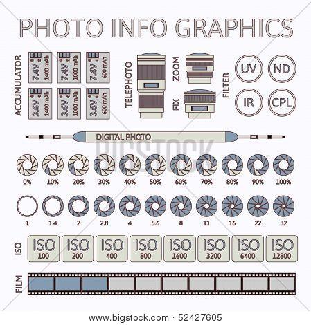 Photo infographics set, part two
