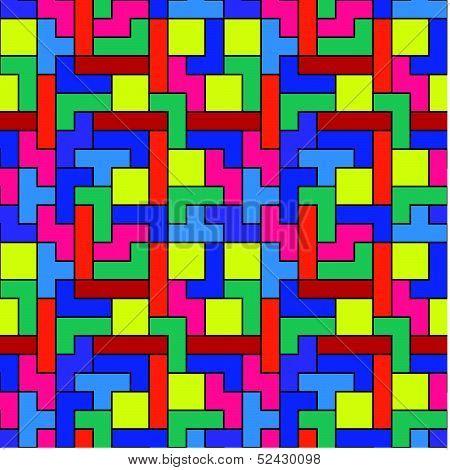 Colorful Tetris Pattern