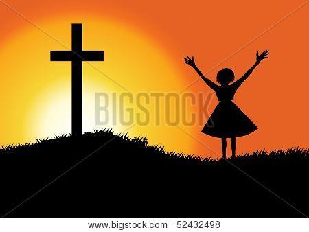 Praise silhouette