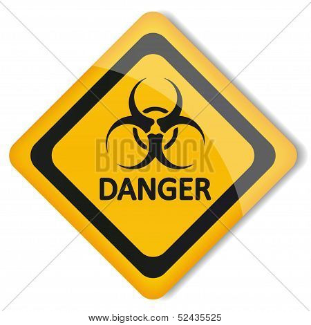 Vector illustration label biohazard