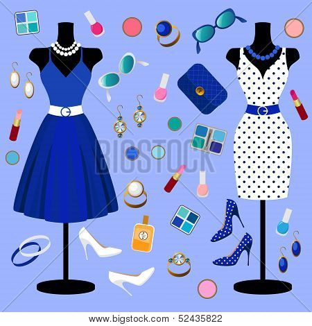 vector collection of fashion clothes