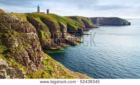 Lighthouse on Cap Frehel. Brittany, France