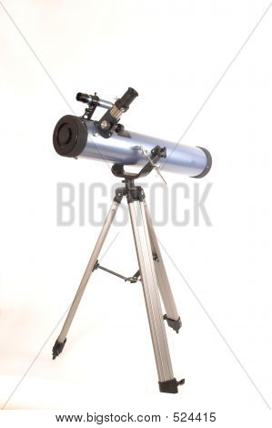 Telescope Over White
