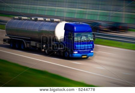 Tanker Truck On Motorway