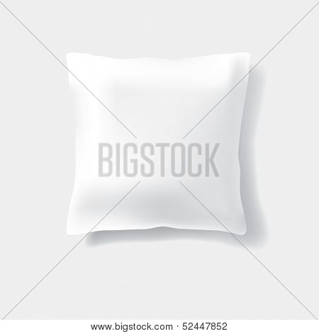 vector white pillow