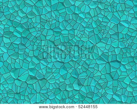 Texture Of Polished Wet Turquoise Gemstones