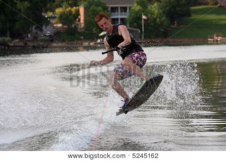 Wakeskating Boy