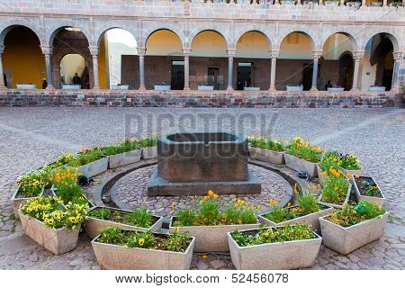 Church Of Santo Domingo, Coricancha,cusco, Peru,south America. Build On Ruins Of  Incan Temple Of Th