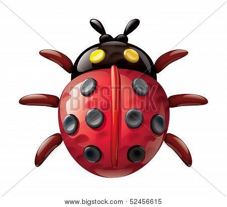 Plasticine ladybug