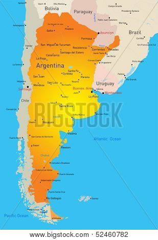 vector color map of Argentina country