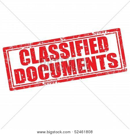 Classified Documents-stamp
