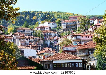 The Houses In Metsovo Greek Village, Greece