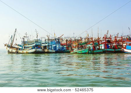 Fisherboats In The Harbor
