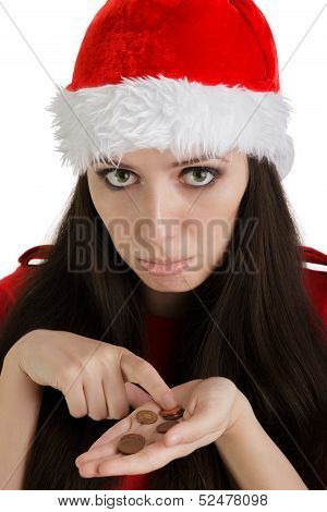 Christmas Girl with Coins