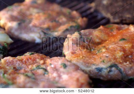 Raw Chicken Florentine Hamburgers
