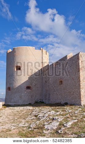 Saint Christopher Tower (main Keep) Of If Castle (circa 1531). Marseilles, France