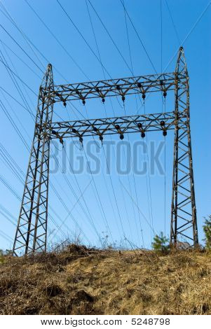 Pylon Of Power Lines