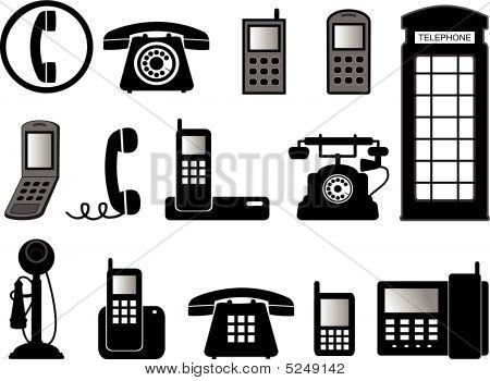 Ilustrações de telefone