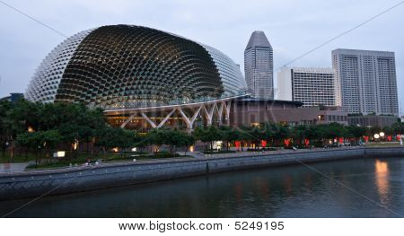 Esplanade (singapore Opera And Concert Hall At Dusk