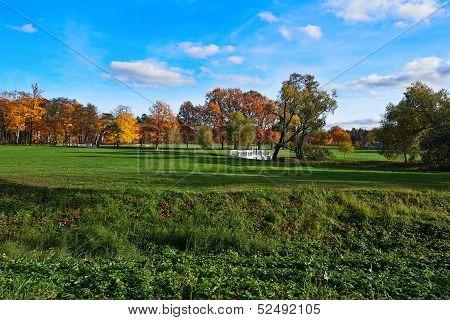 City Park. Different Colors Of Autumn