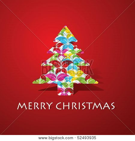 Colorful butterflies make a christmas tree stock vector
