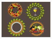stock photo of beechnut  - It is illustration of decorative wreaths of autumn celebration - JPG