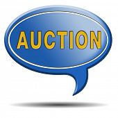Auction icon bid and buy online