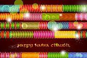 stock photo of bangles  - vector illustration of Colorful Bangles for Karva Chauth - JPG