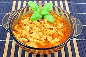 stock photo of tripe  - Traditional tripe soup in a small bowl