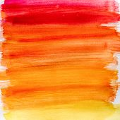 picture of dab  - Gradient watercolor texture which resembles to fire or sunset - JPG