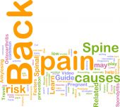 Back Pain Word Cloud