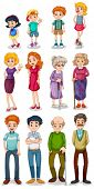 picture of mother law  - Illustration of the humans on a white background - JPG