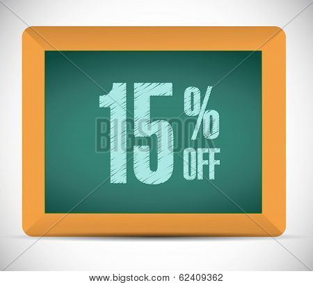 15 Percent Discount Message Illustration Design