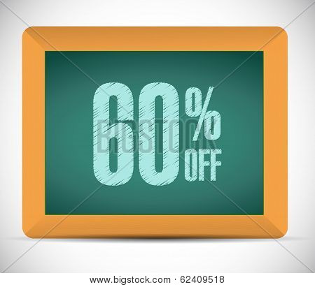 60 Percent Discount Message Illustration