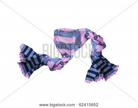 Color Neckerchief Isolated On White Background