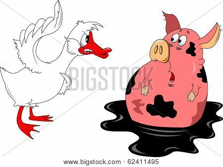Goose And Pig