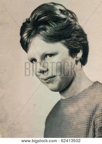 LODZ, POLAND, CIRCA 1960's: Vintage portrait of woman